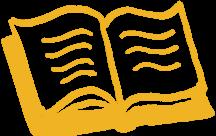 Sketch of an open book